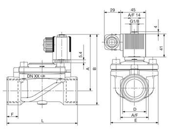 电气连接:din43650a型插头,可